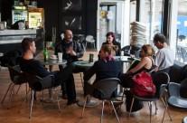 27/04/2013   Razgovor: Zapis i interpretacija. Grafički i video notni zapis. Gosti: Bujger, Gagić, Indoš. Moderira: Karolina Rugle @ kafić Teatra &TD